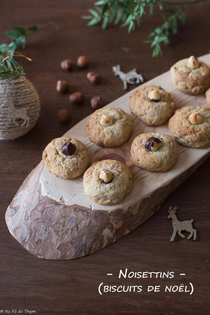 Noisettins (biscuits noël)