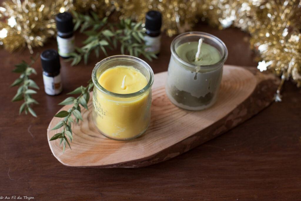 DIY bougies parfumées maison aux huiles essentielles - Au Fil du Thym
