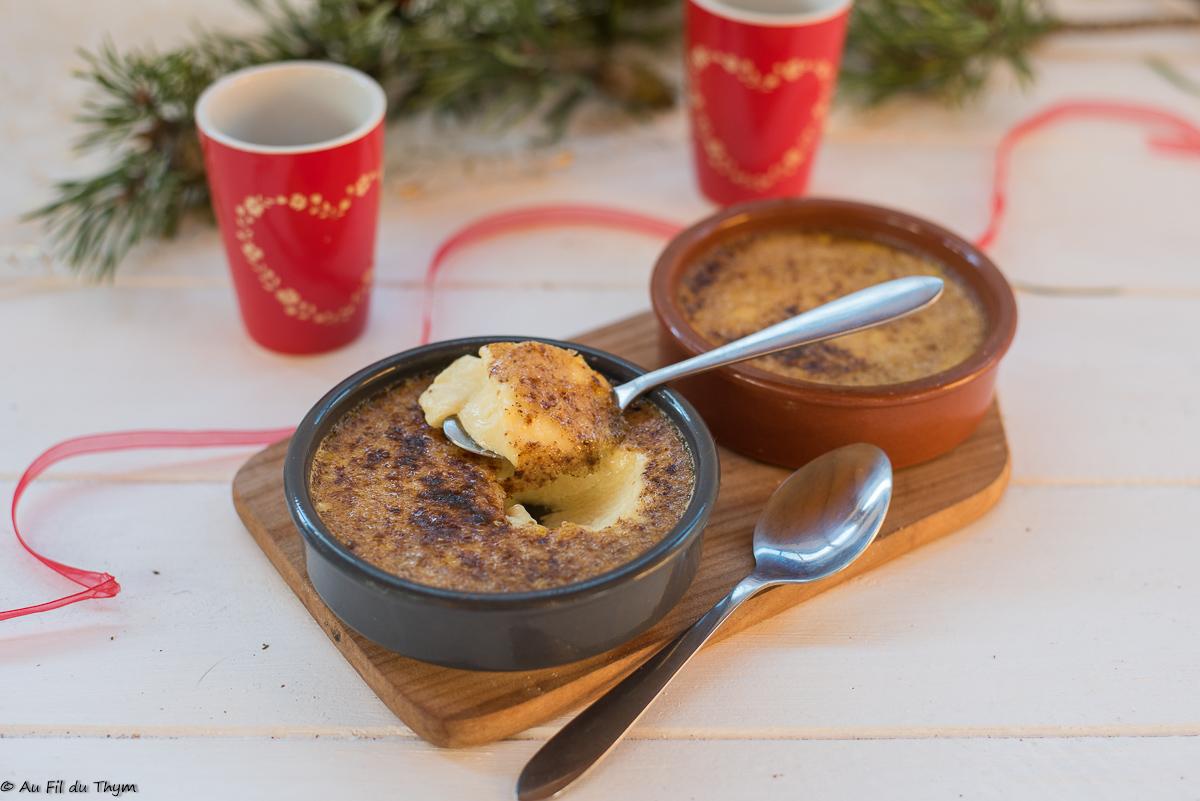 Crèmes brûlées au pain d'épices (café gourmand festif)