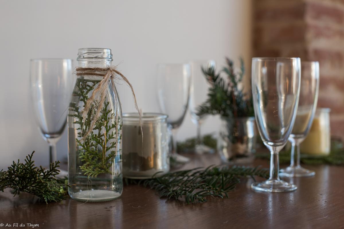 Une table de fêtes simple et naturelle (version 2019)