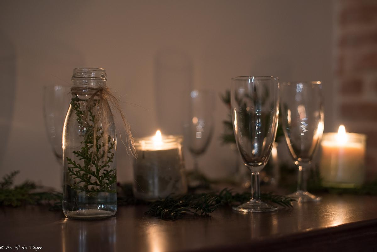 décoration table fête nature 2019 - Vue de nuit