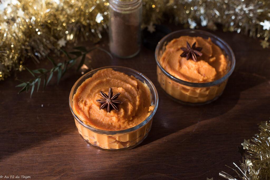 Mousseline patate douce aux épices douces - Au Fil du Thym