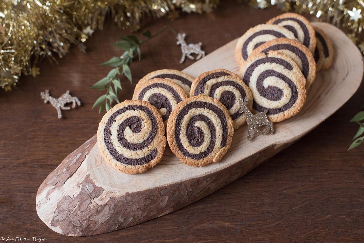 Spirales au chocolat (sablés de l'avent)