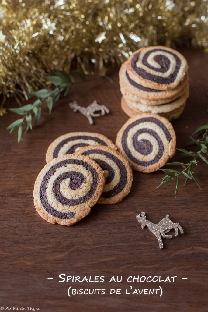 Spirales au chocolat (Biscuits de l'avent) - Au Fil du Thym