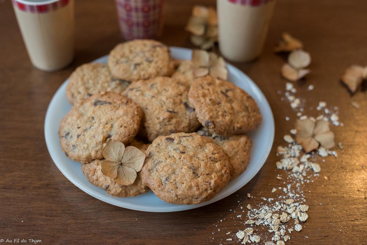 Cookies au chocolat et flocons d'avoine