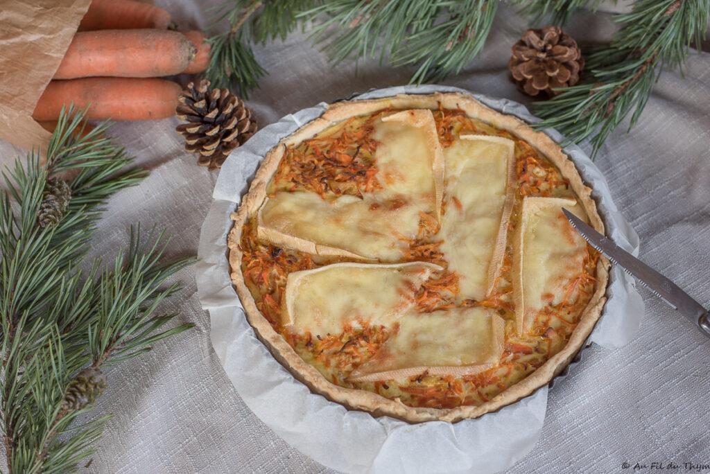 Quiche carottes et fromage à raclette - Au Fil du Thym