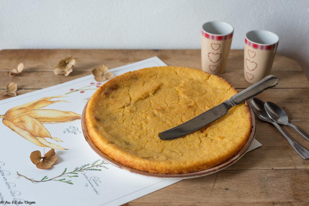 Gâteau polenta citron ( sans farine, sans oeufs)