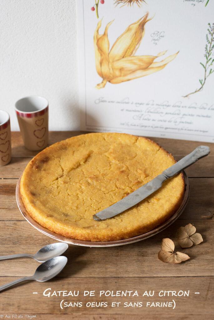 Gâteau polenta citron (sans farine, sans oeufs)