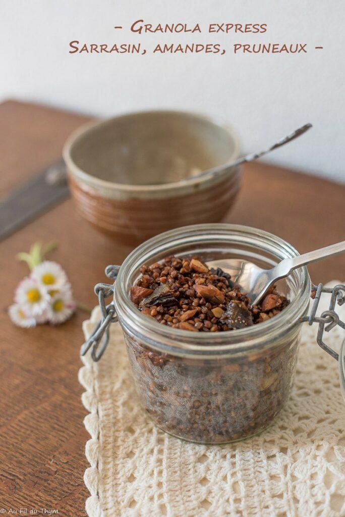 Granola sarrasin amandes et pruneaux (express) - Au Fil du Thym