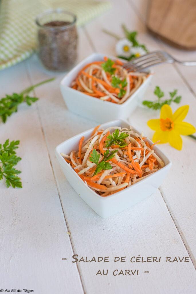 Salade céleri rave au carvi