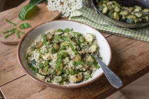 Couscous aux fèves et courgettes - Au Fil du Thym