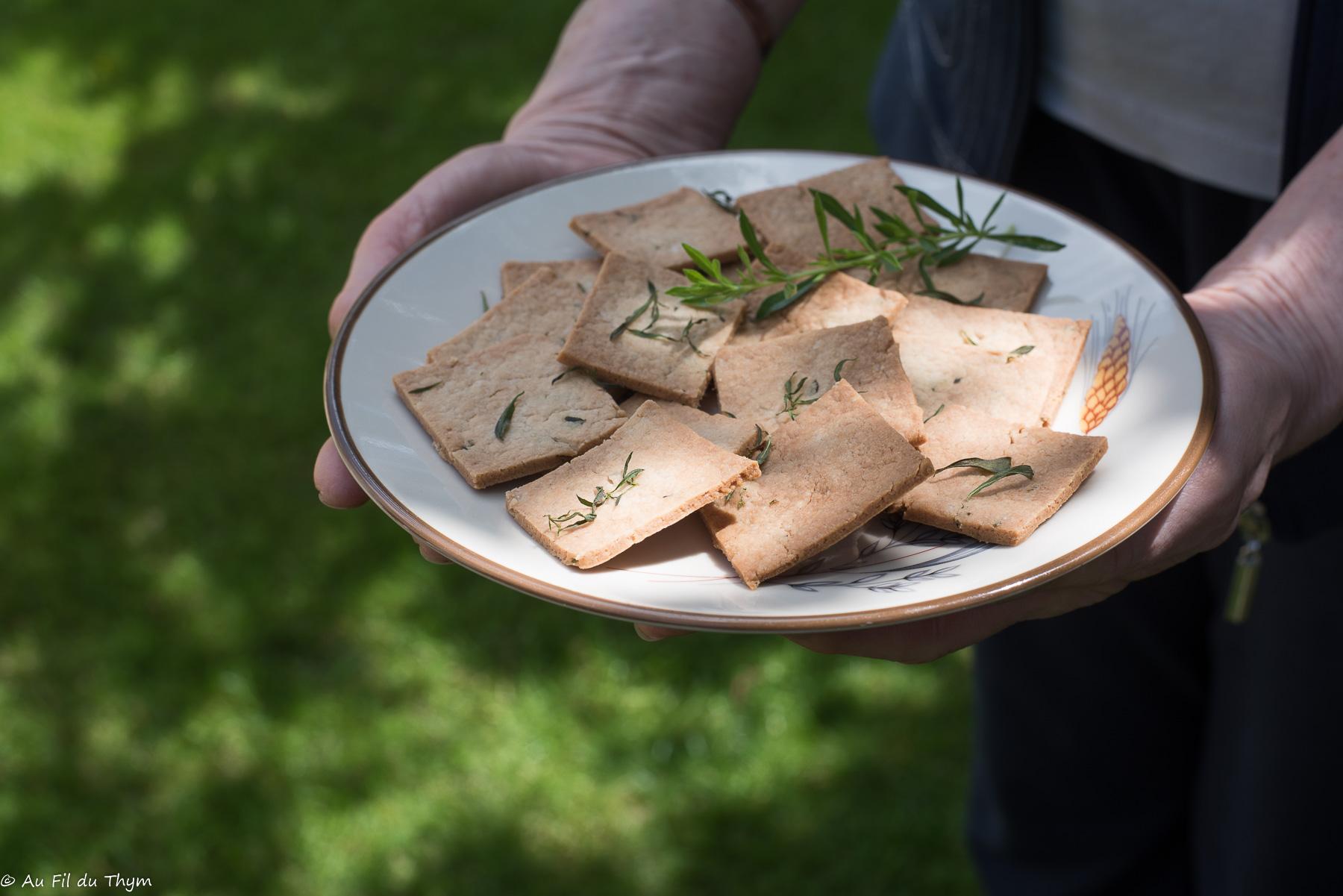 Crackers épeautre et sarriette (apéritifs)