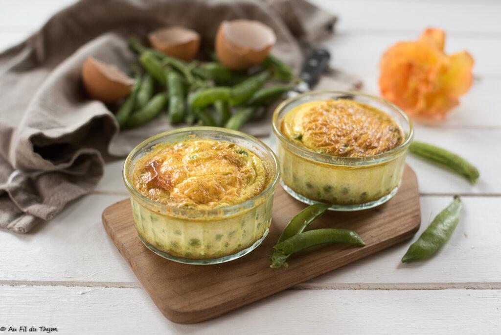 flans petit pois curry facile - Au FIl du Thym