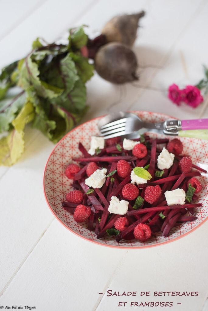 Salade betteraves, framboises et menthe (très frais) - Au Fil du Thym