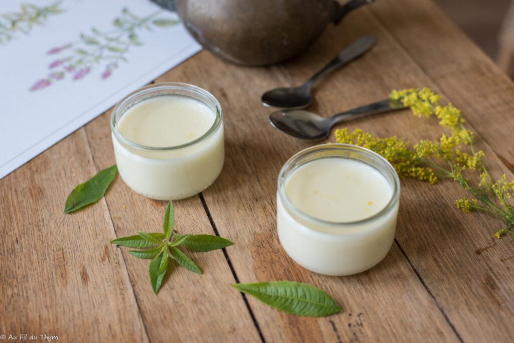 petites crèmes verveine citronnelle - Au Fil du Thym