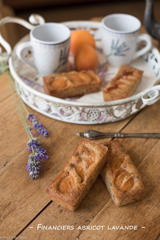 Financiers abricot lavande - Au Fil du Thym