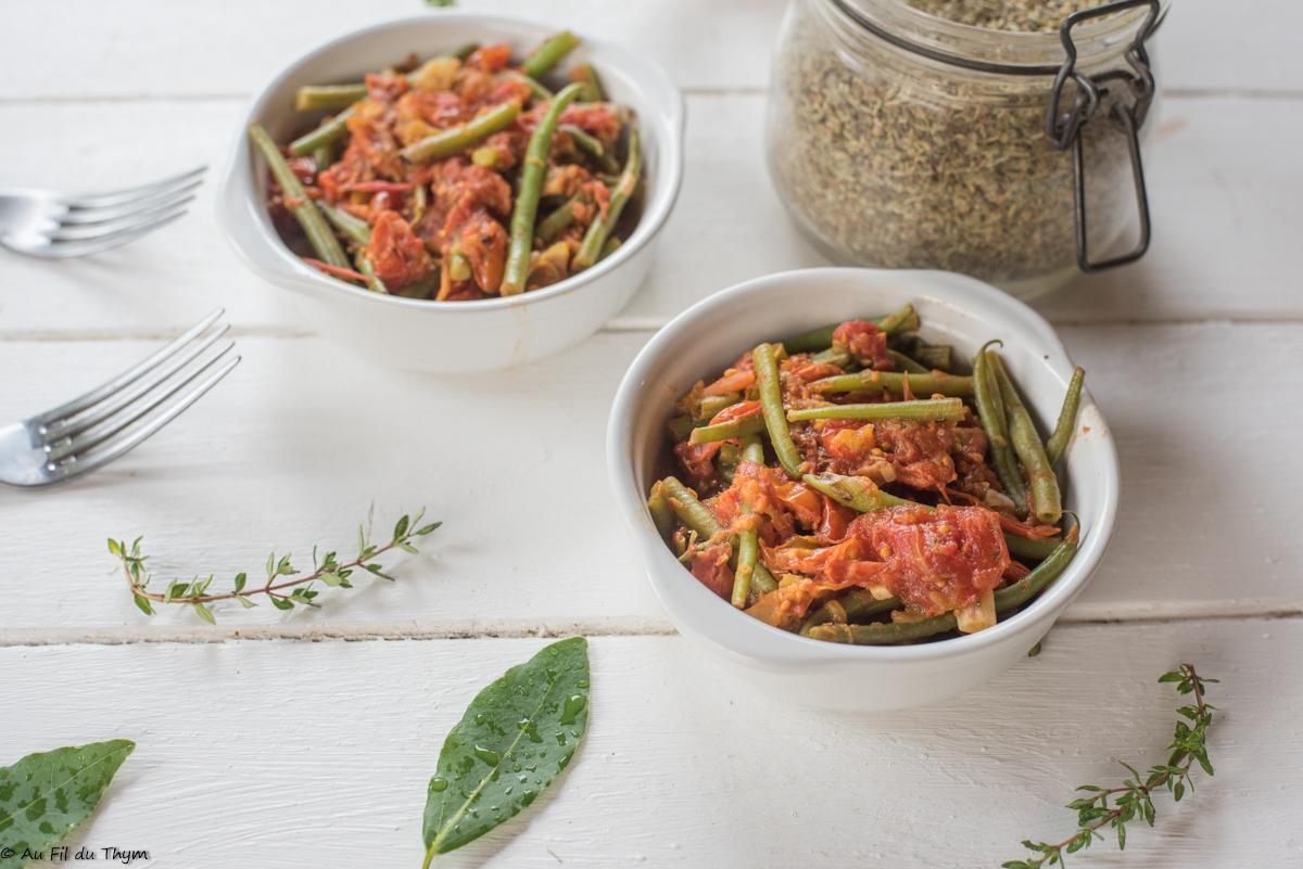 Mijoté de haricots verts à la tomate