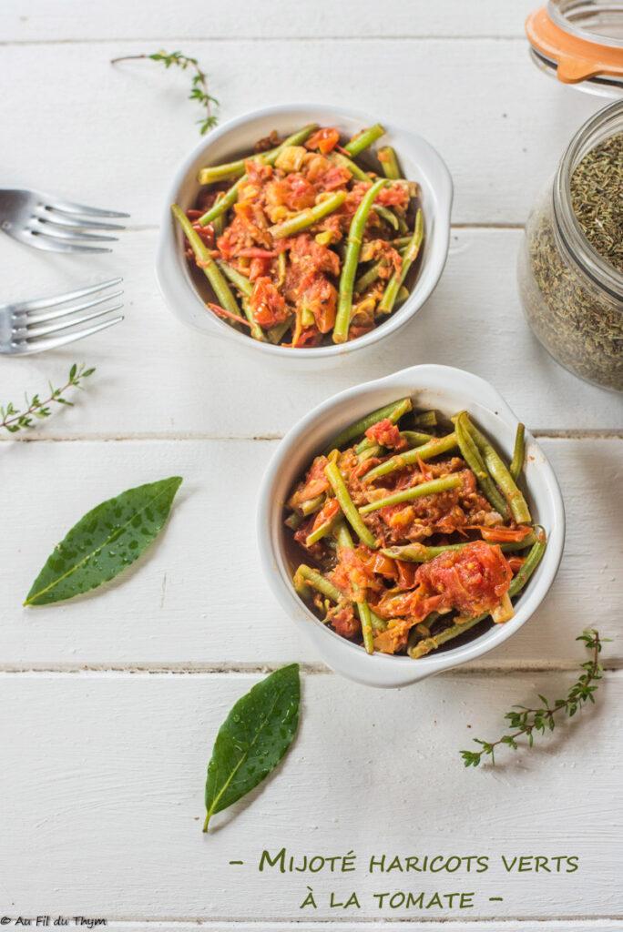 Mijoté haricots verts tomate - Au Fil du Thym