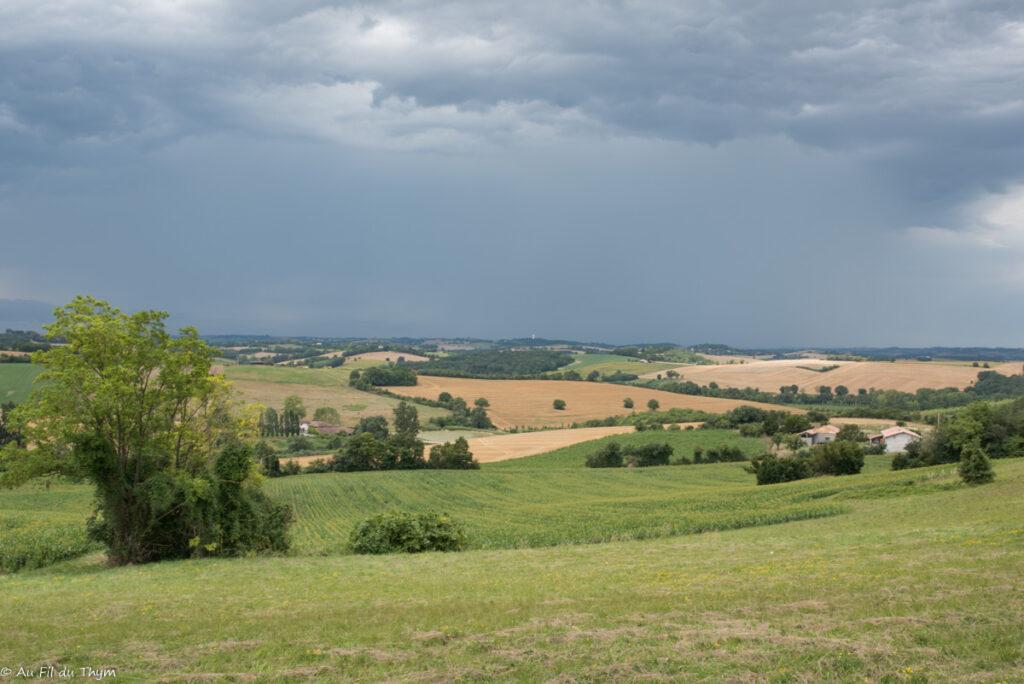 paysages savès : un jour d'orage