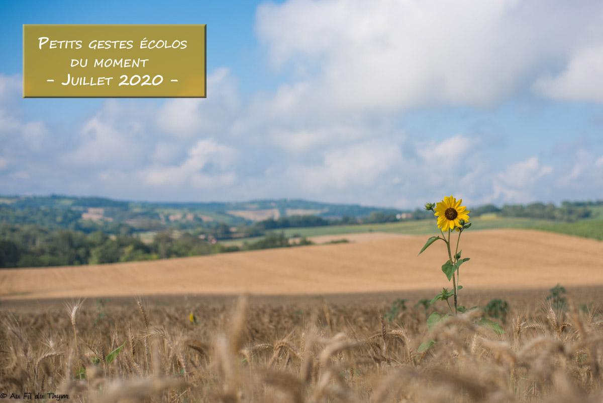 Petits gestes écolos du mois – Juillet 2020