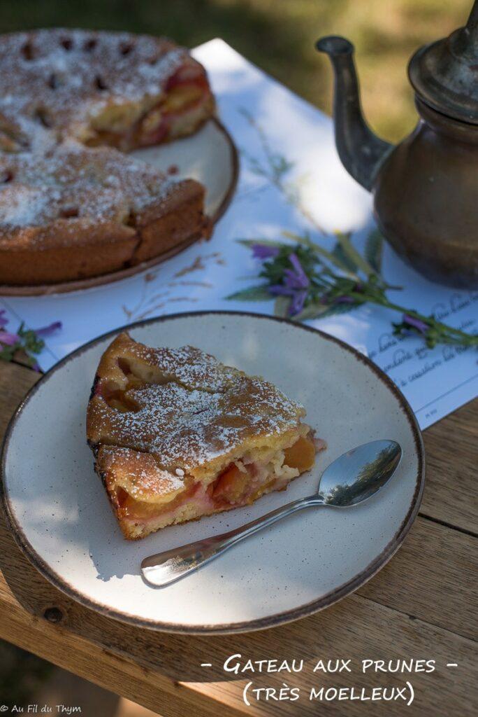 Gâteau aux prunes moelleux - Au Fil du Thym