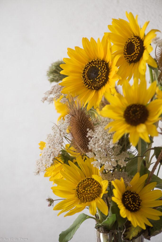 bouquets d'été : tournesols