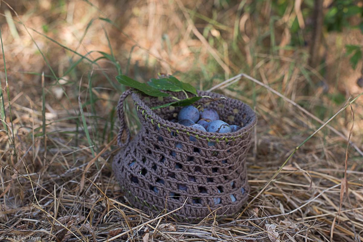 DIY – Panier de cueillette en crochet