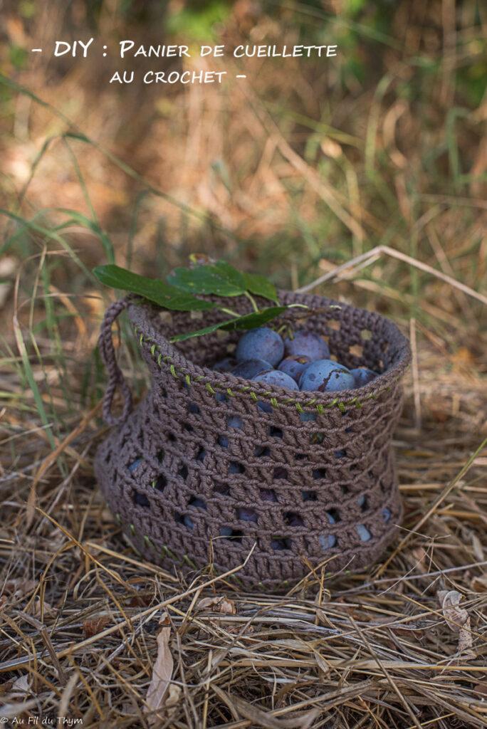 Panier cueillette en crochet - Au Fil du Thym