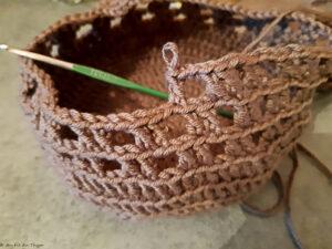 panier de cueillette crochet - tutoriel