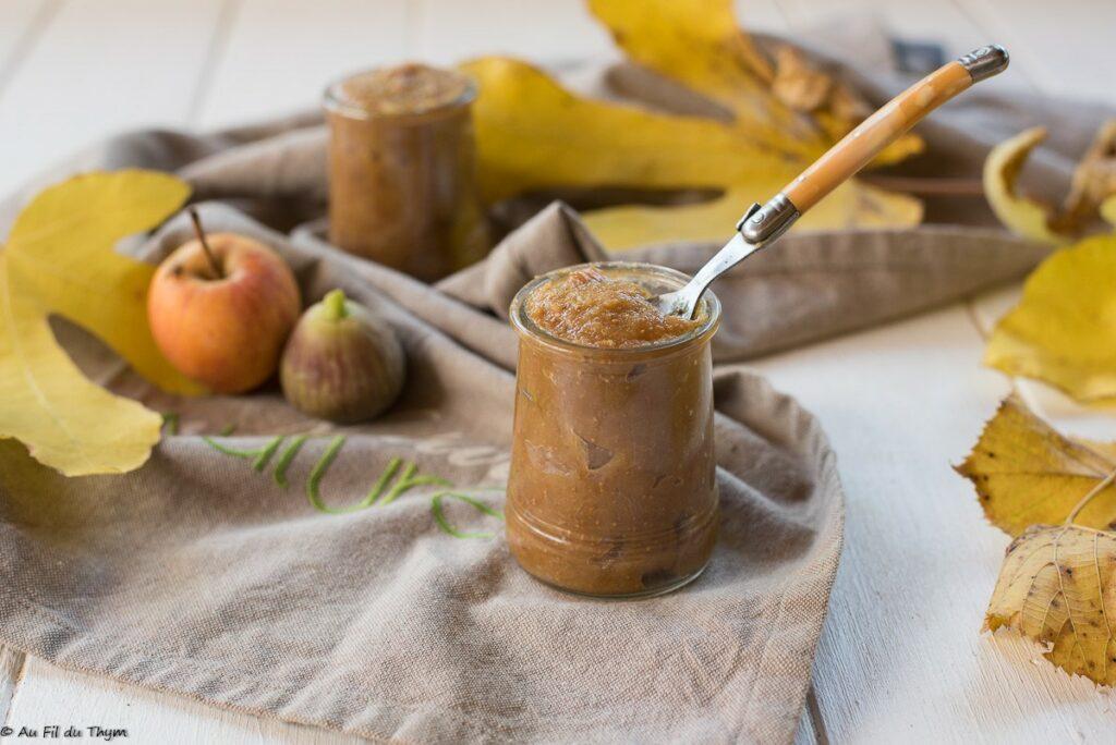 Compote pommes figues - Au Fil du Thym