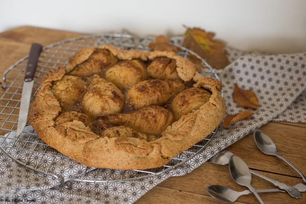 Tarte poires noisette et pain d'épice - Au Fil du Thym