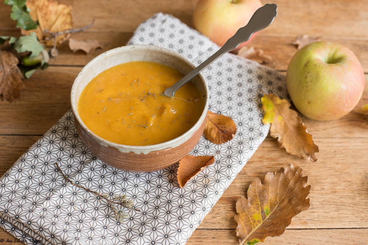 Soupe de butternut au thym (facile)