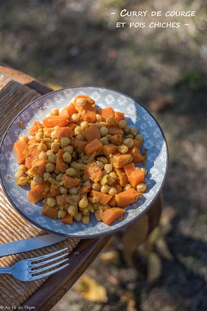 Curry de courge et pois chiches - Au Fil du Thym