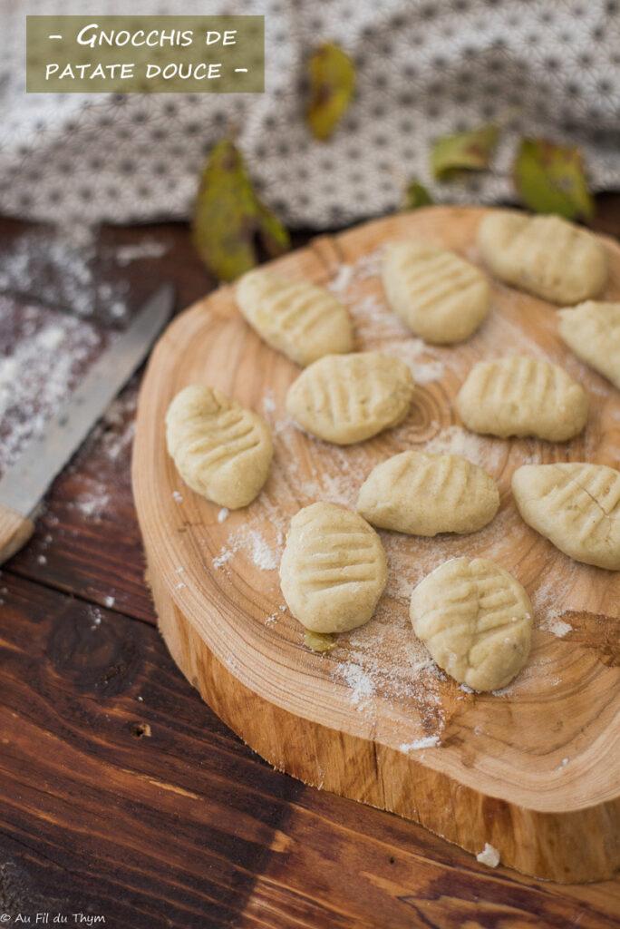 Gnocchis de patate douce - Au Fil du Thym