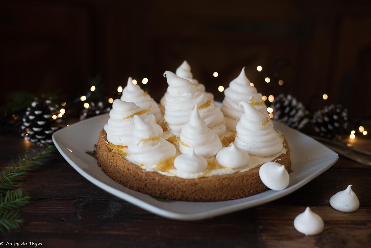 a forêt enneigée - Dessert noel citron
