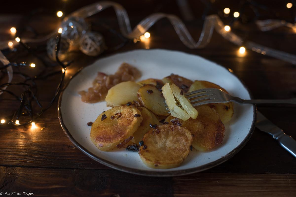 Pommes de terre confites (poêlée sarladaise)