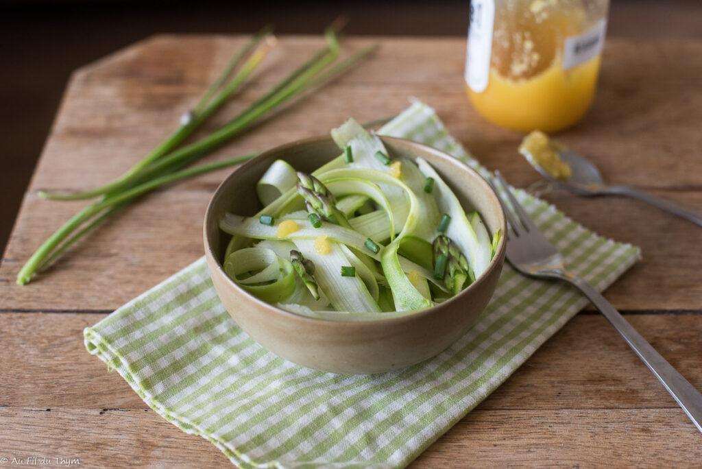 salade asperges vinaigrette miel - Au Fil du Thym