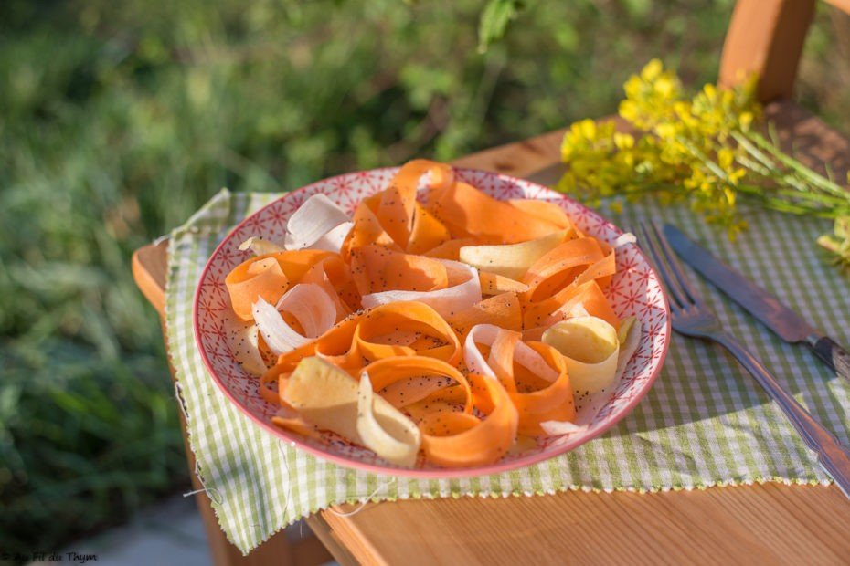 Salade de carottes aux graines de pavot - Au Fil du Thy