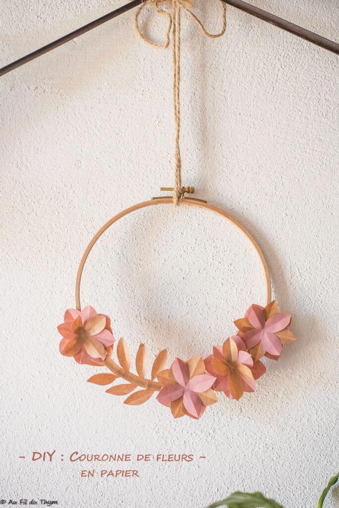 DIY : Couronne fleurs papier facile