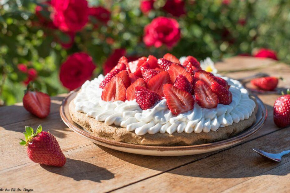 Tarte aux fraises, chantilly armagnac - Au Fil du Thym