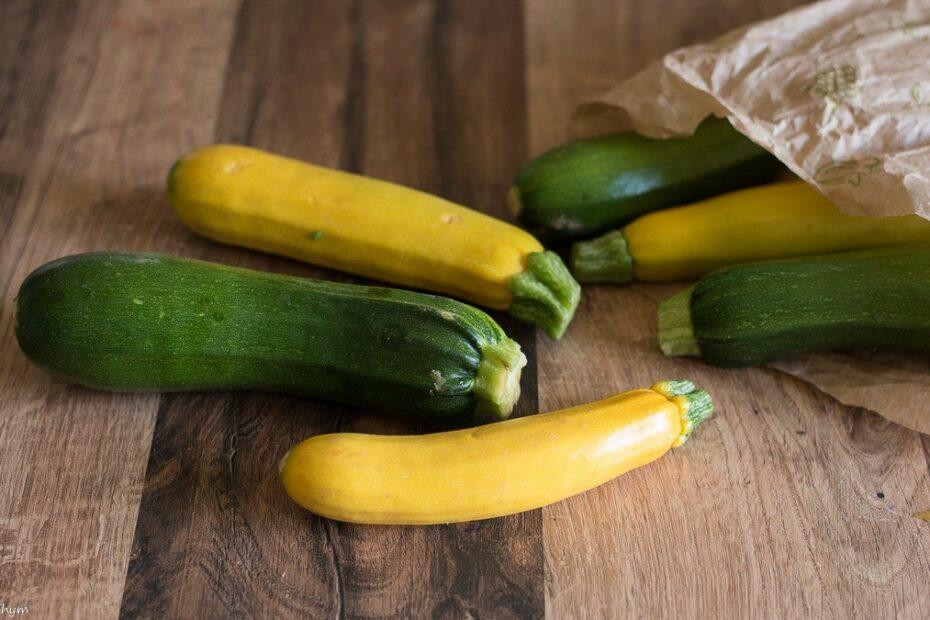 Courgettes vertes et jaunes