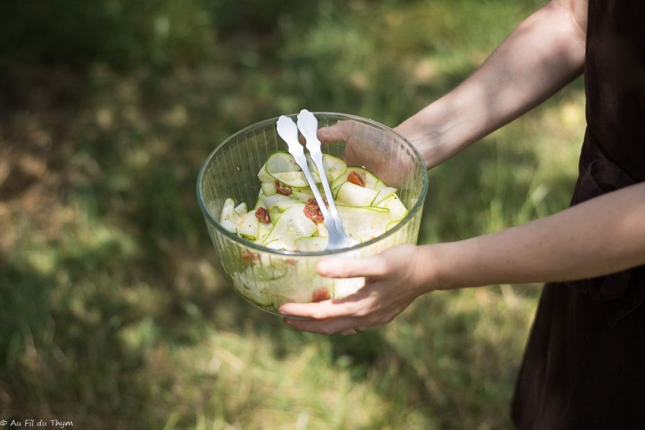 Salade de courgettes en tagliatelles (facile) - Au Fil du Thym