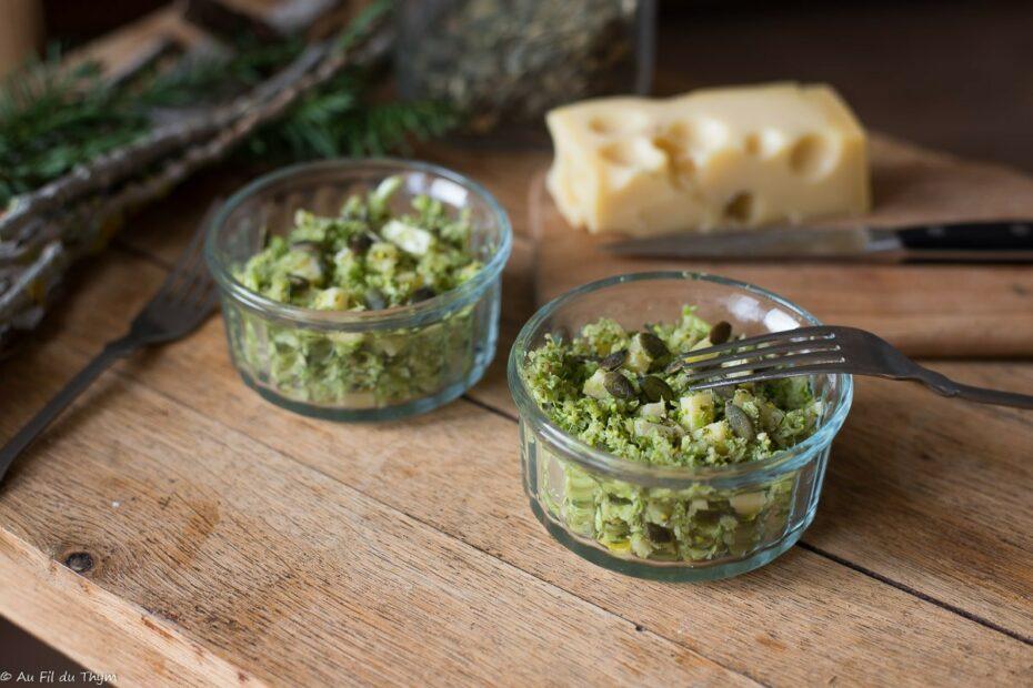 Taboulé brocolis et emmenthal facile - Au Fil du Thym